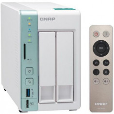 NAS Qnap TS-251A-2G, 2 Bay-uri, Dual Core, 1600 - 2480 MHz, 2 GB DDR3L (Negru)