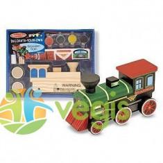 Trenulet sin lemn de asamblat si pictat Melissa and Doug 4 ani+