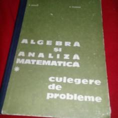 Matematica-Algebra Si Analiza Matematica-culegere-donciu, Flondor-1978,T.GRATUIT