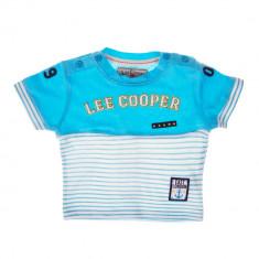 Lee Cooper - Tricou maneca scurta bebe East London bleu cu dungi albe