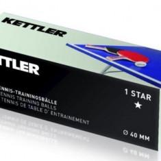 Set Mingi Tenis De Masa (1-Stea), 40 mm, Alb - Masa ping pong Kettler