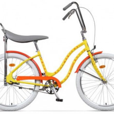 Bicicleta Pegas Strada 1 OTEL 2S, Cadru 17inch, Roti 26inch, 2 Viteze (Galben)