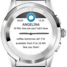 Smartwatch MyKronoz ZeTime Premium 44MM, Ecran Touchscreen TFT 1.22inch, Bluetooth, Bratara Piele, Rezistent la apa (Negru/Negru/Rosu)