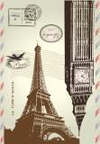 Covor Soho 004 Le Timbre-Poste Paris, Imprimat Digital