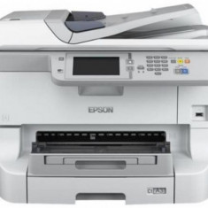 Multifunctional Epson WorkForce Pro WF-8590DWF, A3+, 34 ppm, Duplex, ADF Retea, Wireless (Alba) - Multifunctionala