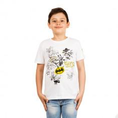 Tricou baieti Lego Batman Always Dress To? alb