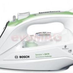 Fier de calcat Bosch TDA702421E, Talpa Ceramica, 2400W, 0.38l (Alb-Verde)
