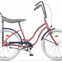 Bicicleta Pegas Strada 1 OTEL 2S, Cadru 17inch, Roti 26inch, 2 Viteze (Roz)