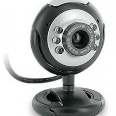 Camera Web 4World Z200, VGA, microfon (Negru) - Webcam