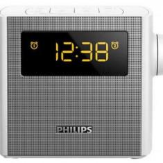 Radio cu ceas si alarma Philips AJ4300W (Argintiu)