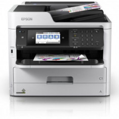 Multifunctional Epson WorkForce Pro WF-C5790DWF, Inkjet, A4, 34 ppm, Duplex, Fax, Retea, Wi-Fi (Alb/Negru) - Multifunctionala