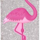 Protectie spate Benjamins Flamingo pentru Apple iPhone 7/8 (Argintiu/Roz) - Husa Telefon