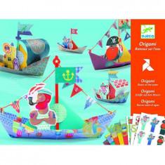 Origami, Bateaux sur l'eau. Vaporase - Jocuri Forme si culori