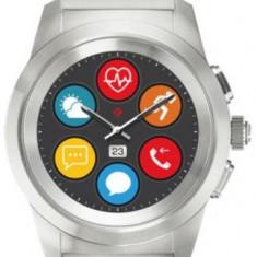 Smartwatch MyKronoz ZeTime Elite, Ecran Touchscreen TFT 1.22inch, Bluetooth, Bratara Otel Inoxidabil, Rezistent la apa (Argintiu)