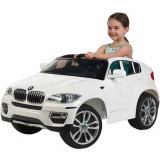 Masinuta electrica BMW X6 White cu roti din cauciuc
