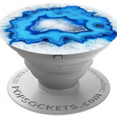 Suport Universal Popsockets cu Stand Adeziv, Model Ice Blue Agate