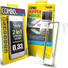Bumper Hoda Taiwan GBO-IP6P-GD, folie de sticla fata+folie spate, pentru iPhone 6 Plus/6S Plus (Auriu) - Husa Telefon