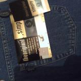 Jeans marca Simply, W: 33, L: 34, Bleu