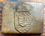 Rar pafta militara Ungaria mare ww1 Transilvania 1900 stema catarama veche