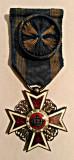 ORDINUL COROANA ROMANIEI OFITER MD 1916  PE TIMP DE PACE DIN ARGINT NEMARCAT
