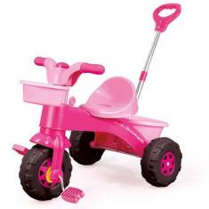 Prima mea tricicleta roz cu maner