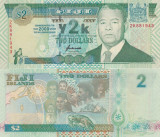 Fiji 2 Dollars 2 000  Comemorativa UNC