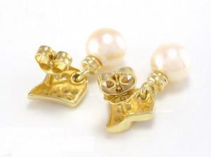 cercei aur 14k deosebiti cu perla akoya si diamante