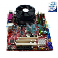 PROMO! Kit Placa de baza MSI+Intel Quad Core E5420 2.5GHz+ 4GB RAM + GARANTIE !, Pentru INTEL, LGA775, DDR2, Contine procesor, MicroATX