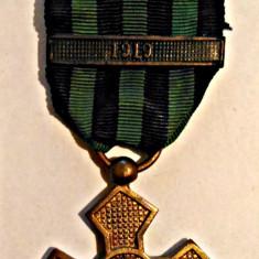 MEDALIA CRUCEA COMEMORATIVA A RAZBOIULUI 1916 1919 AN 1918 AURIE CU BARETA 1919 - Ordin