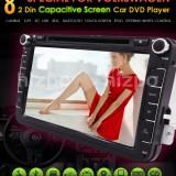 Navigatie Auto VW Skoda Seat Noua Casetofon DVD GPS Display 8 inch 2Din