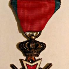 ORDINUL COROANA ROMANIEI CAVALER MODEL 1938 MILITARI PE TIMP DE RAZBOI