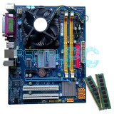 Discount! Kit Placa de baza Gigabyte+Intel Core2Duo E7500 2.93GHz+4GB RAM+Cooler, Pentru INTEL, LGA775, DDR2