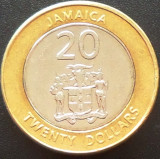 Moneda bimetalica 20 DOLARI - JAMAICA, anul 2008   *cod 12 --- UNC!