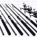 Set pescuit din 4 lansete POWER 3m si 4 mulinete IF6000 cu 6 rulmenti