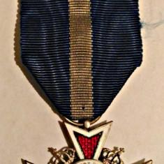 ORDINUL COROANA ROMANIEI MODEL 1932 CAVALER PT CIVILI PE TIMP DE PACE IMPECABILA