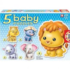 Puzzle Educa Bebe cu Animale Savana