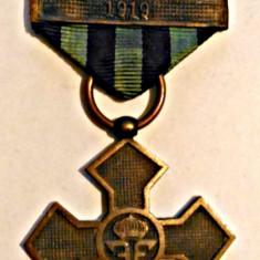 MEDALIA CRUCEA COMEMORATIVA INTERIORUL CRUCII MAT BARETE MARASESTI DOBROGEA 1919 - Ordin