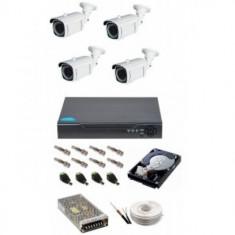 Sistem de supraveghere varifocal, 4 camere 4 Mp, IR 40 m.