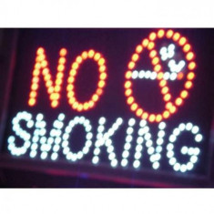 Panou informativ cu leduri - No Smoking