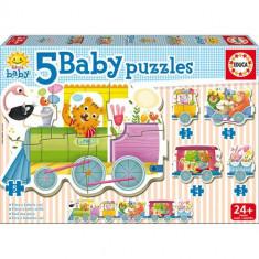 Puzzle Educa Baby Animals Train