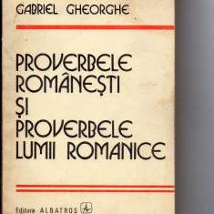 Proverbele  romanesti  si  proverbele  lumii  romanice