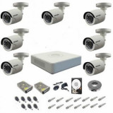 Kit complet supraveghere 1080P Hikvision Turbo HD Ext 7 IR 20 m