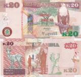Zambia 20 Kwacha 2012 UNC