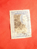Timbru 50 C Malaya-Kelantan Colonie Britanica 1961 stampilat