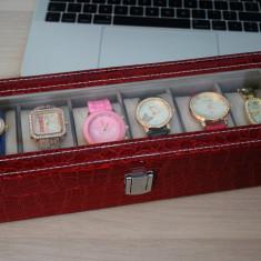 CADOUL EI - Cutie cu compartimente + 6 ceasuri de dama SUPEROFERTA + transport