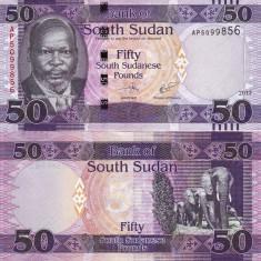 SUDANUL DE SUD 50 pounds 2017 UNC!!!