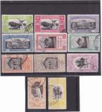 #2169 Romania 1906 serie stampilata  LP 63 Expozitia Generala Bucuresti