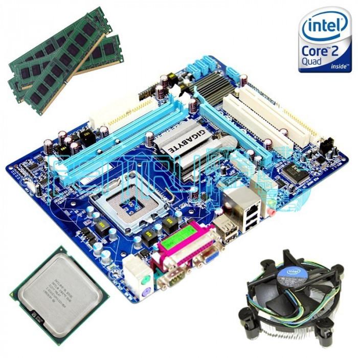 Oferta! Kit Placa de baza Gigabyte + Intel Core 2 Quad Q9505 + 4GB RAM GARANTIE!