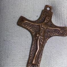 crucifix antic,crucifix vechi original,Crucifix bronz,colectie,Transport GRATUIT