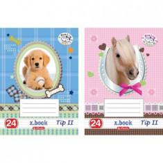 Caiet A5 Herlitz, Tip II, 24 file, Motiv Pretty Pets